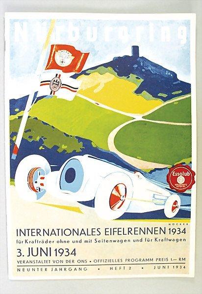 623: programme, international Eifel race Nürburgring 19