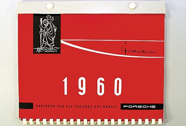 1960 Calendar.1578 Porsche Christophorus Calendar 1960 Condition 1 May 08