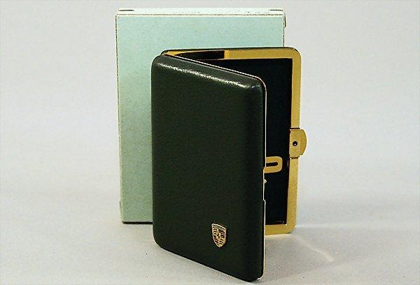 1602:  PORSCHE promotional gift, small cigar-case, cove