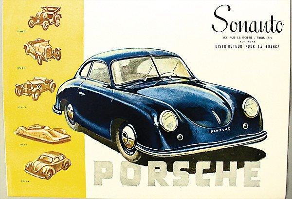 1605:  PORSCHE F 1950, brochure, Porsche 356, 4 pages,