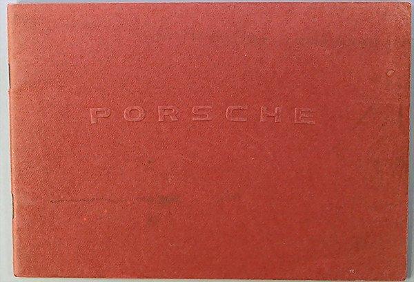 1606: PORSCHE D: 1952, operating instructions type 356,