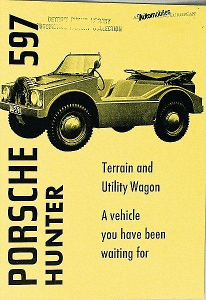 1608:  PORSCHE GB 1955, brochure, Porsche hunting buggy