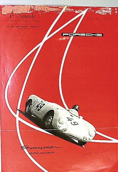 1609:  PORSCHE F 1955, flyer, Porsche Spyder model 550/
