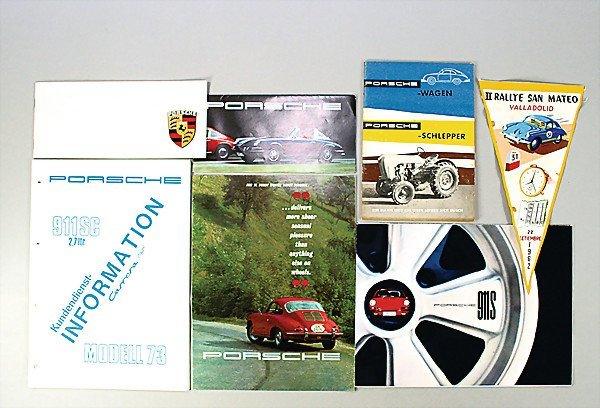 1614: PORSCHE mixed lot of 7 pieces, 1x D 1966, folder,