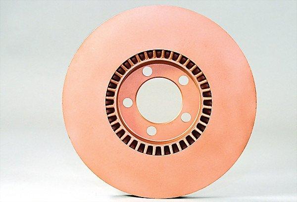 1618:  PORSCHE brake disc, type 911, c. 1972, copper al
