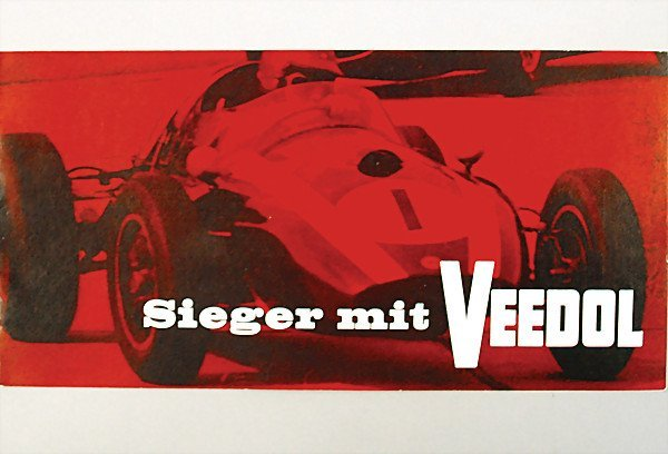 1622: brochure, 12 pages, winner with Veedol, 1960, con