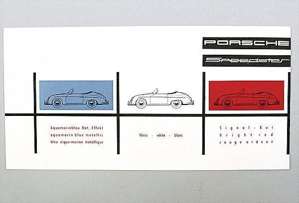1624: PORSCHE D:1956 , Porsche Speedster color chart, c