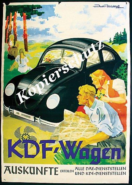 2014: KdF Wagen advertisement from around 1938 , KDF ca