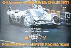 2130: poster, 24 heures du Mans 1971/ Porsche 917 K Mar