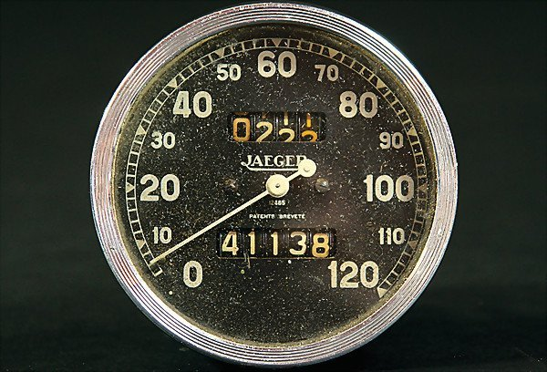 2270: JAEGER speedometer, scale: 0 - 120, with daily di
