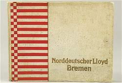 """3049: book, """"Norddeutscher Lloyd Bremen""""n, in three lan"""