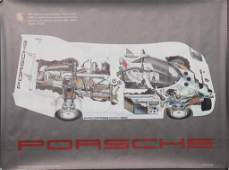 PORSCHE original/advertisement poster sectional view