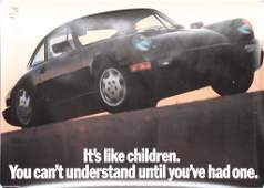 "PORSCHE original advertisement poster ""It´s like"