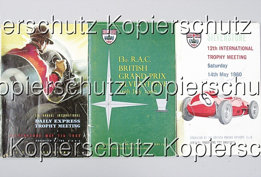 2: mixed lot of 3 programs, Silverstone, among them 1 p