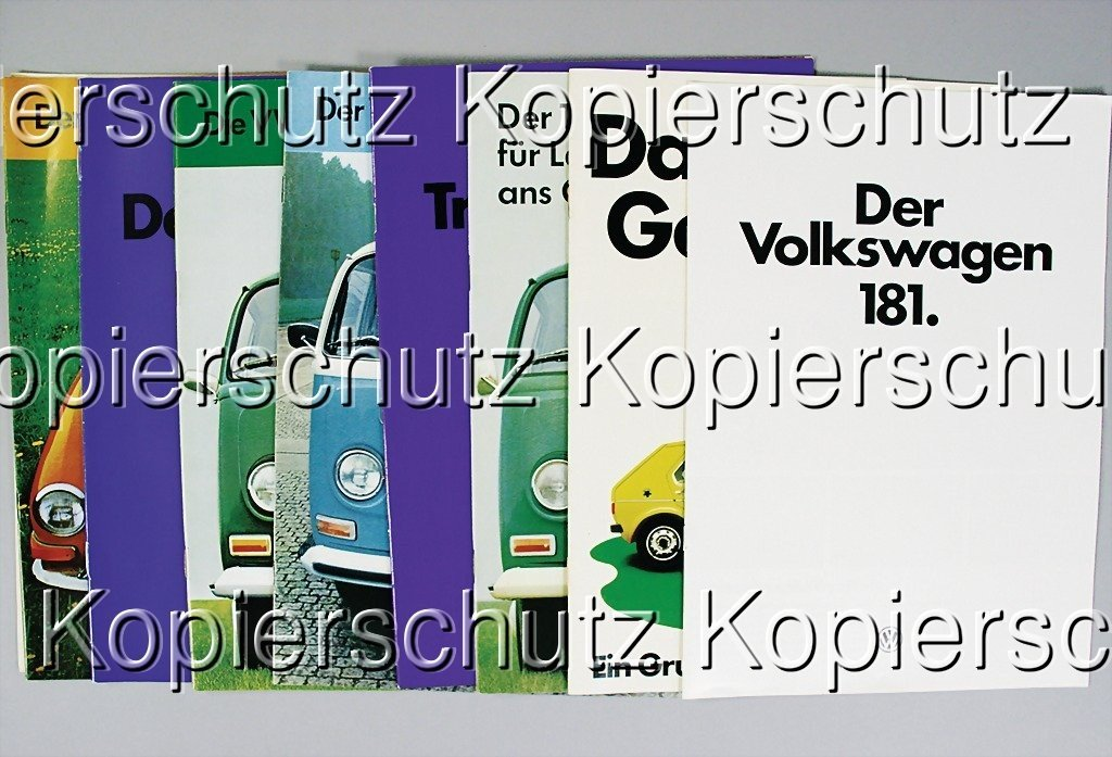 376: VW mixed lot of 9 pieces, 1x brochure, VW 1500 Con