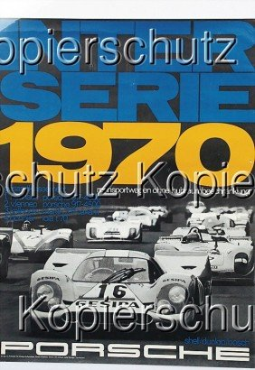 "PORSCHE Racing Poster ""Interserie 1970"", Study St"