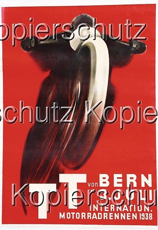 "2136: racing poster ""TT von Bern, Int. Motorradrennen 1"