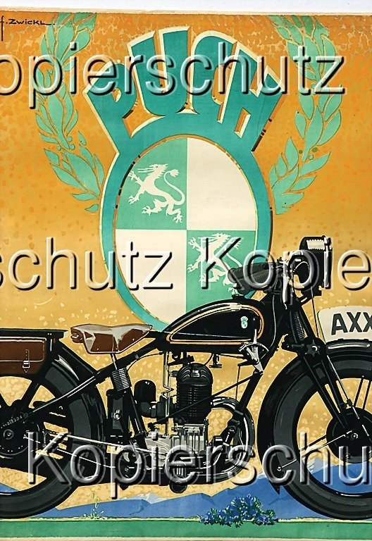 2179: PUCH advertisement, '30s, study: Zwickel, (84 by