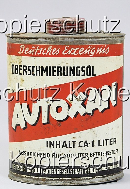 2214: AUTOXAN oil can, (16 by 12 cm), '30s   German:  A