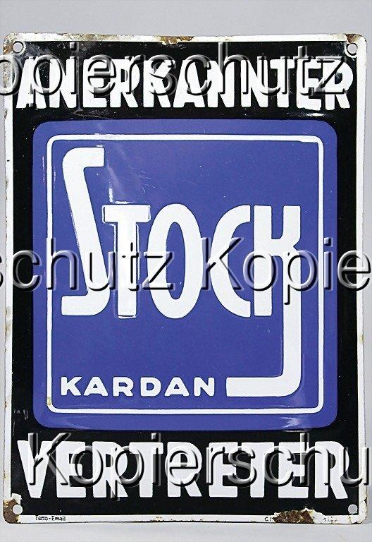 2215: enamel-sign, stick Kardan accredited representati