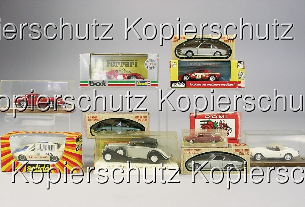 2430: 12 model cars '70s/'80s, e.g. Lancia Stratos by S