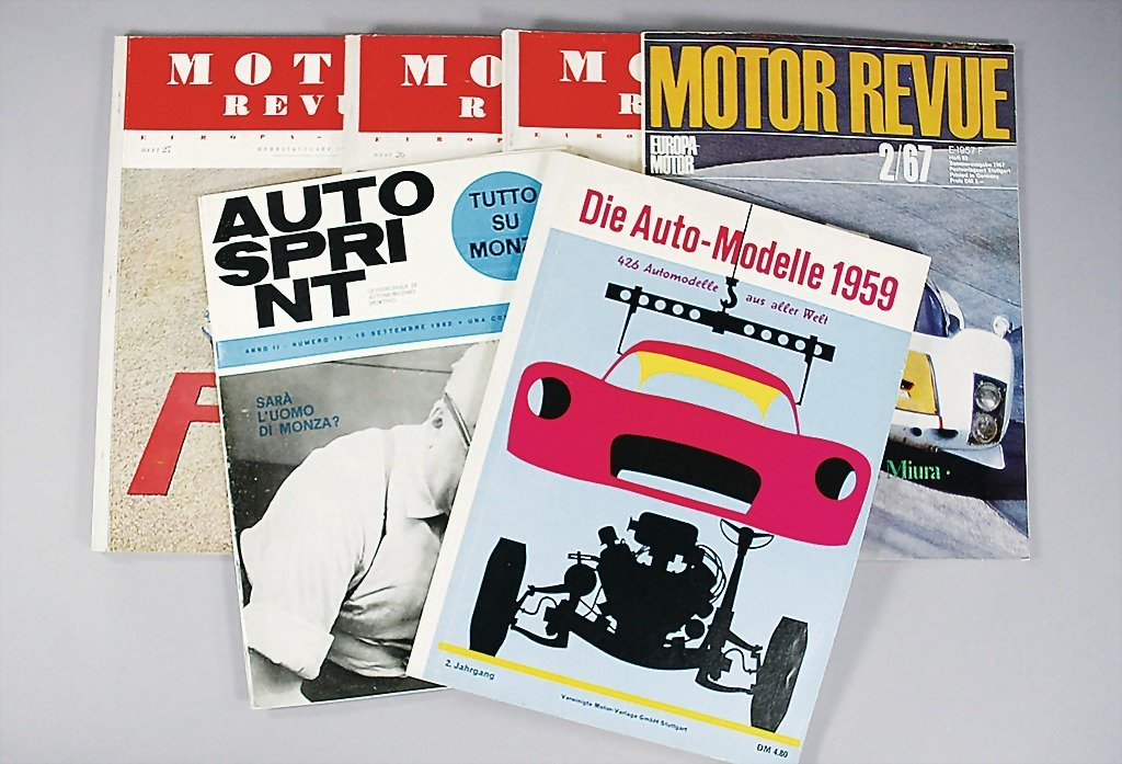 1: mixed lot of 6 pieces, No. 1: the car models 1959; N