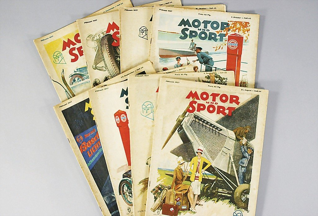 4: Motor & Sport year 1929, 8 issues: issue 34,36,37,39