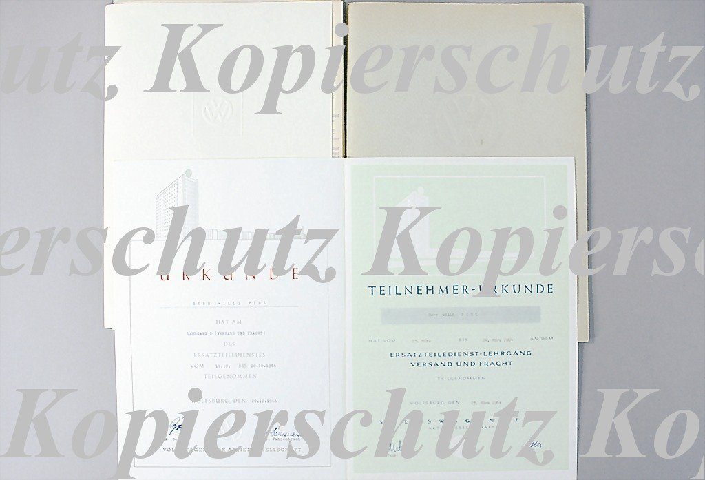 8: VOLKSWAGEN c. 1964 to 1966, mixed lot of seminar doc