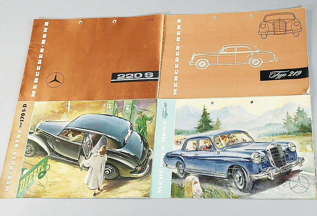 17: MERCEDES-BENZ mixed lot of 9 pieces, sales catalogs