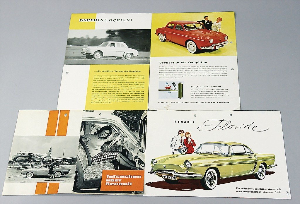 18: RENAULT mixed lot of 8 pieces, sales catalogs and b