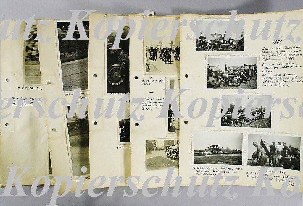 25: AUTOBAHNSPINNE HELLERAU 1951 mixed lot of 23 origin