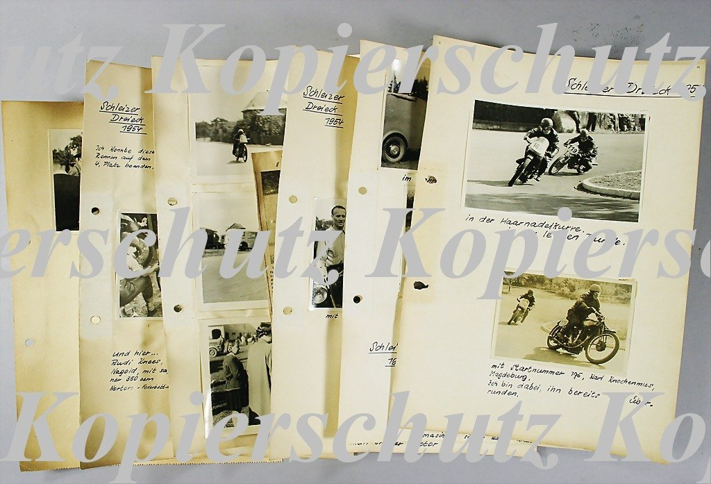 26: SCHLEIZER DREIECKRENNEN 1954 mixed lot of 15 origin