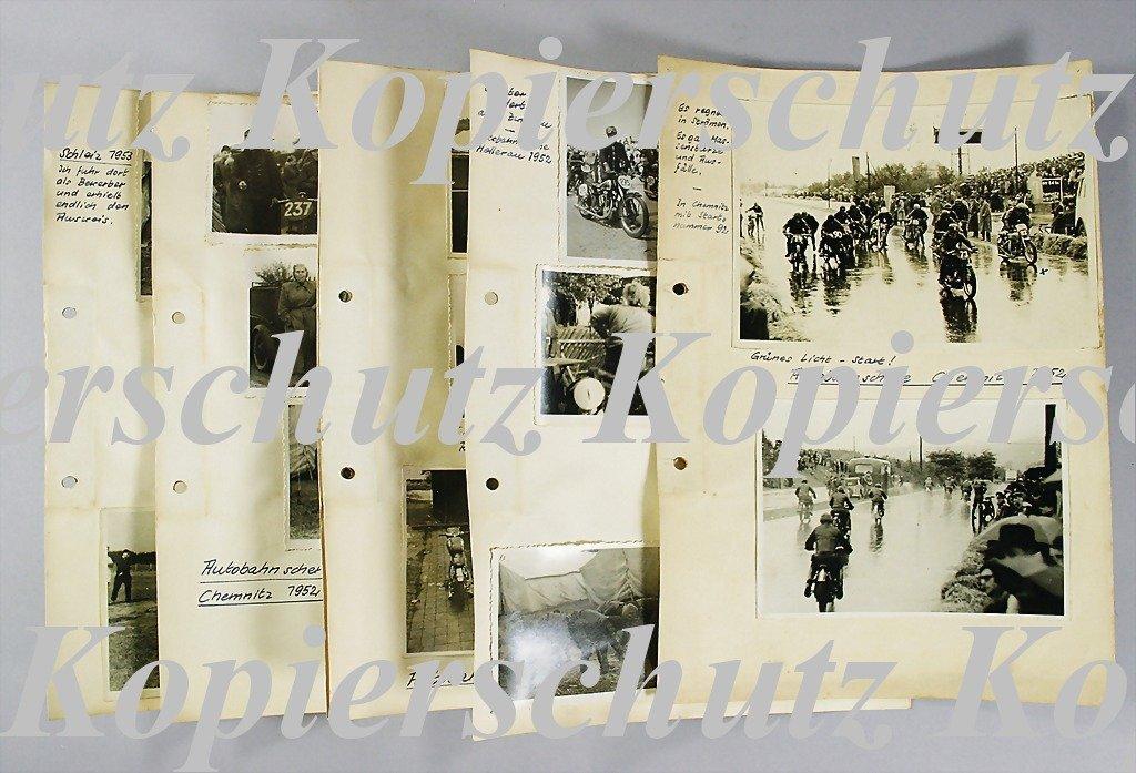 27: AUTOBAHNSCHERE CHEMNITZ 1952 mixed lot of 23 origin