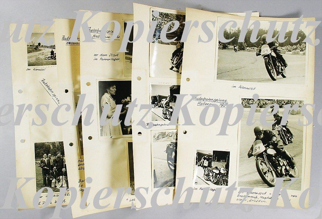28: AUTOBAHNSPINNE HELLERAU 1954 mixed lot of 17 origin