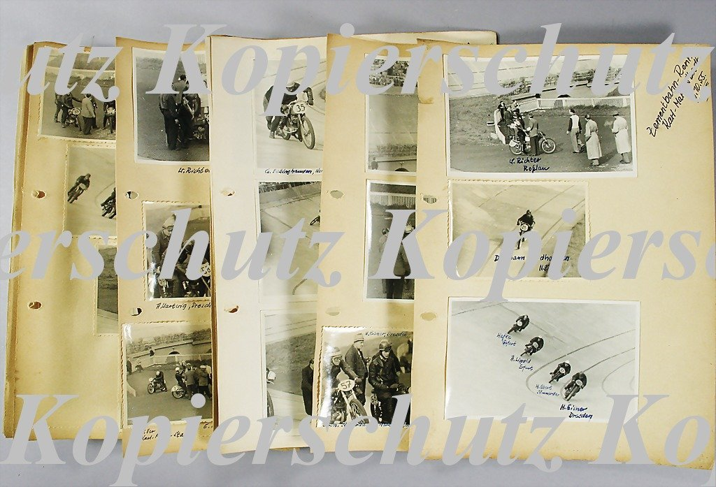 30: ZEMENTBAHN-RACE KARL MARX STADT 1955 mixed lot with