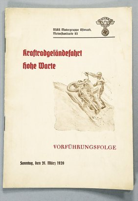Programme Motorcycle-cross-country Rally Hohe Warte