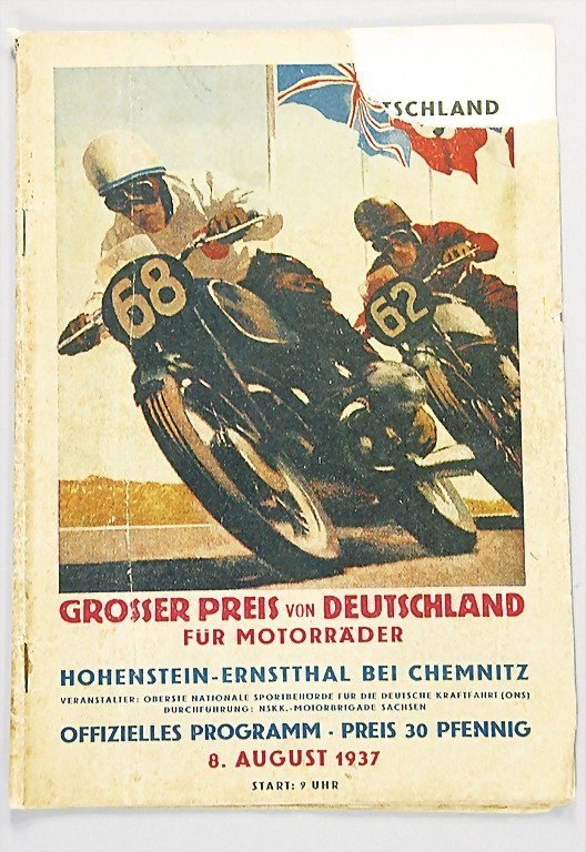 37: program Grand Prix of Germany for motorbikes, Hohen