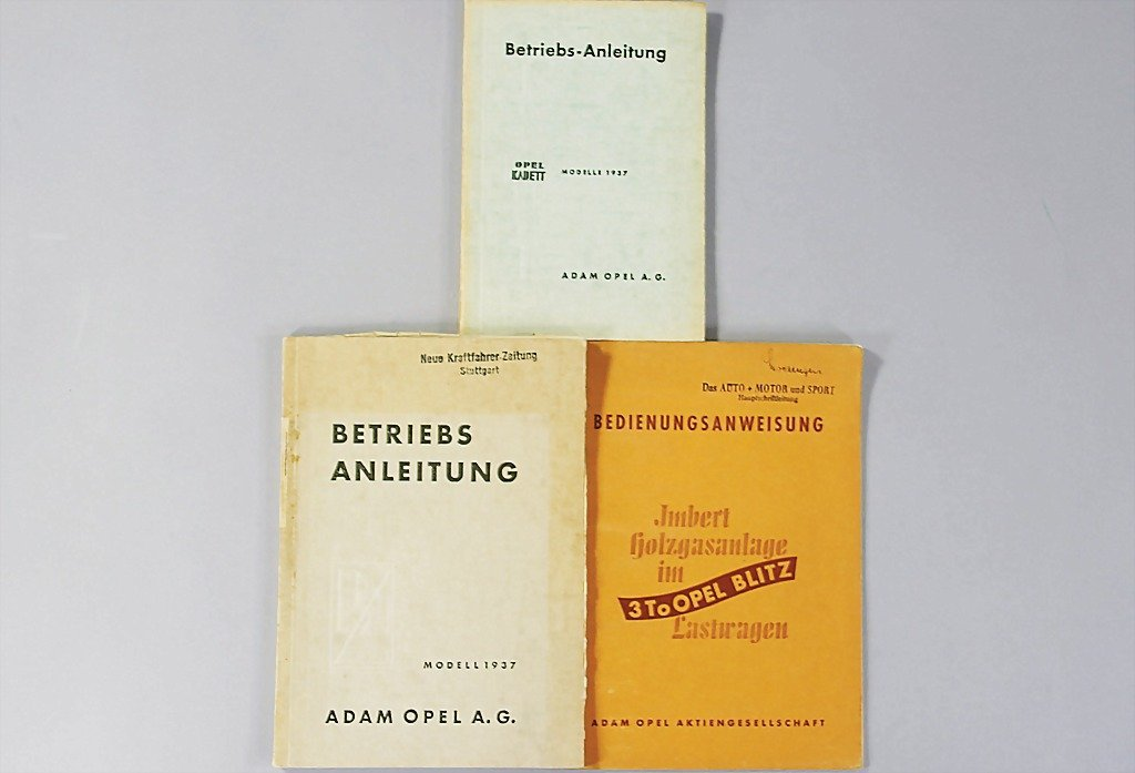 99: OPEL mixed lot of 3 operating instructions, No. 1: