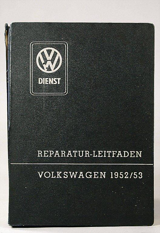 117: VW guide for repair Volkswagen 1952/1953, good con