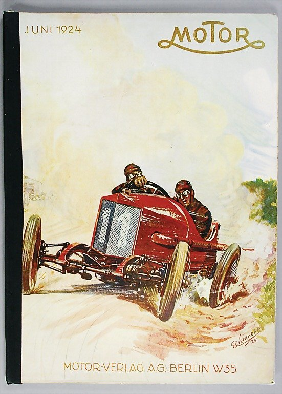 "644: magazine ""MOTOR"" year 1924, edition June, new cove"