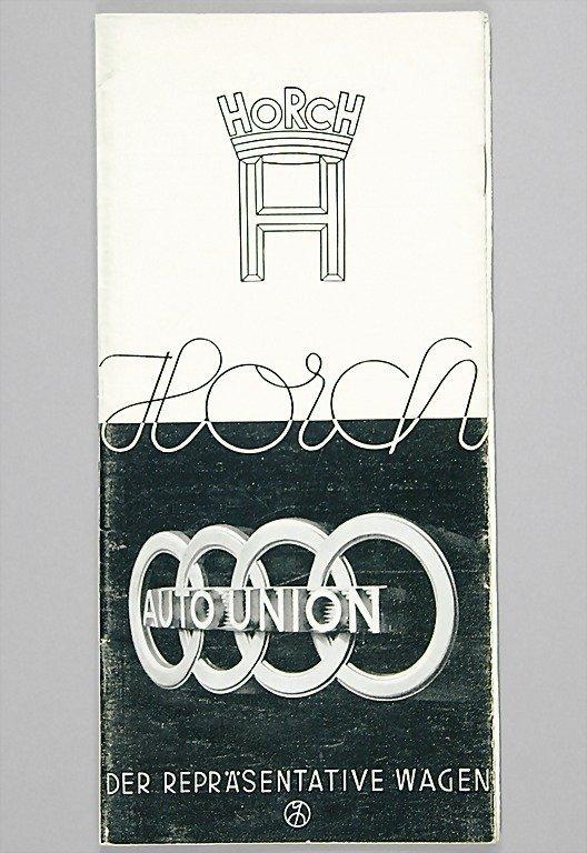 1074: HORCH brochure, model program 1937, German text,