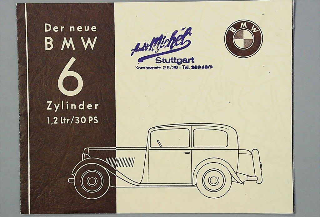 1402: BMW brochure folder, the new BMW six-cylinder 1.2