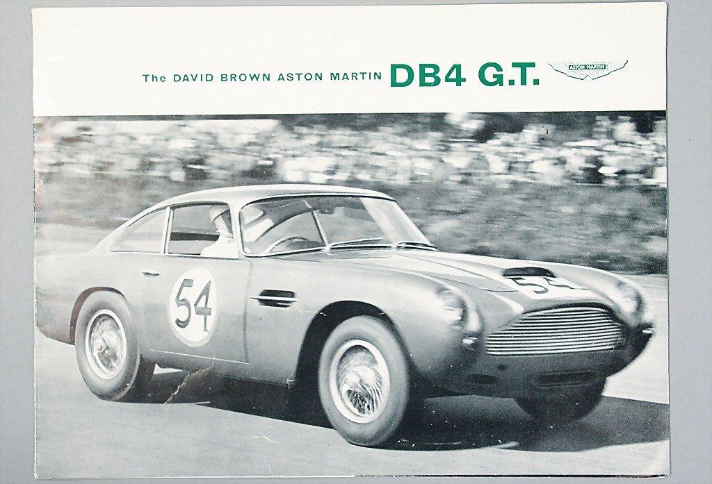 1403: ASTON MARTIN brochure, DB 4 GT, 4 pages, English/