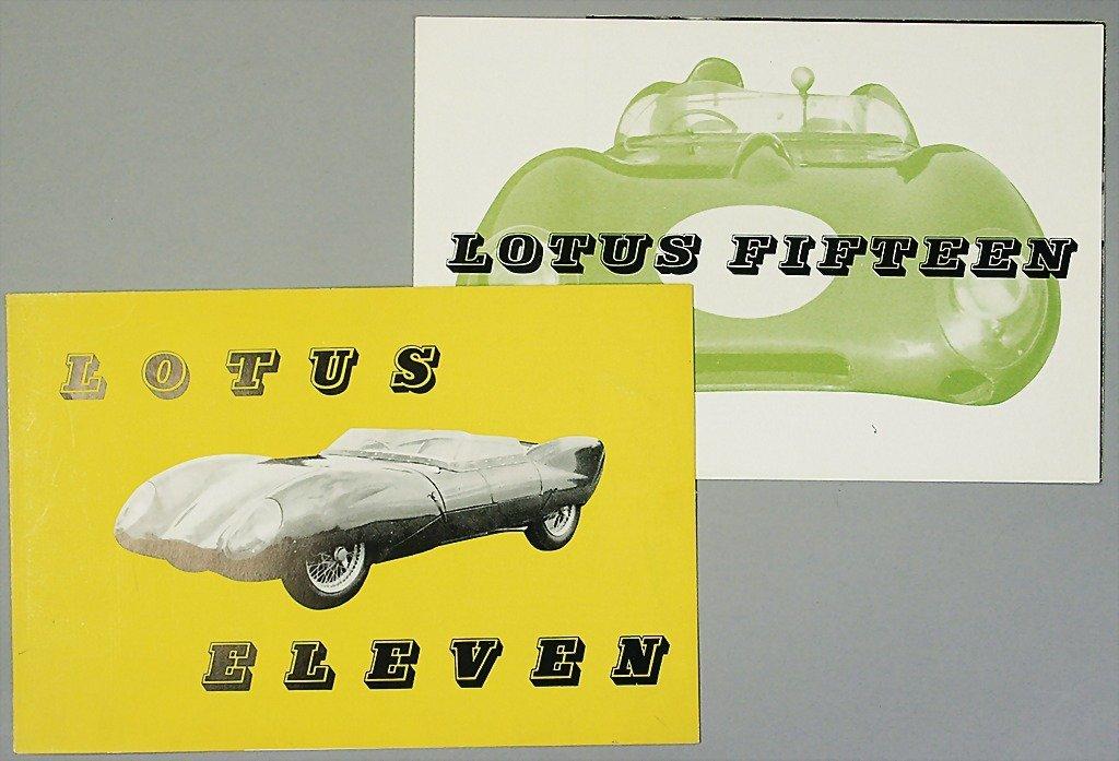 1405: LOTUS mixed lot, 1x folder, Lotus Fifteen, 6 page