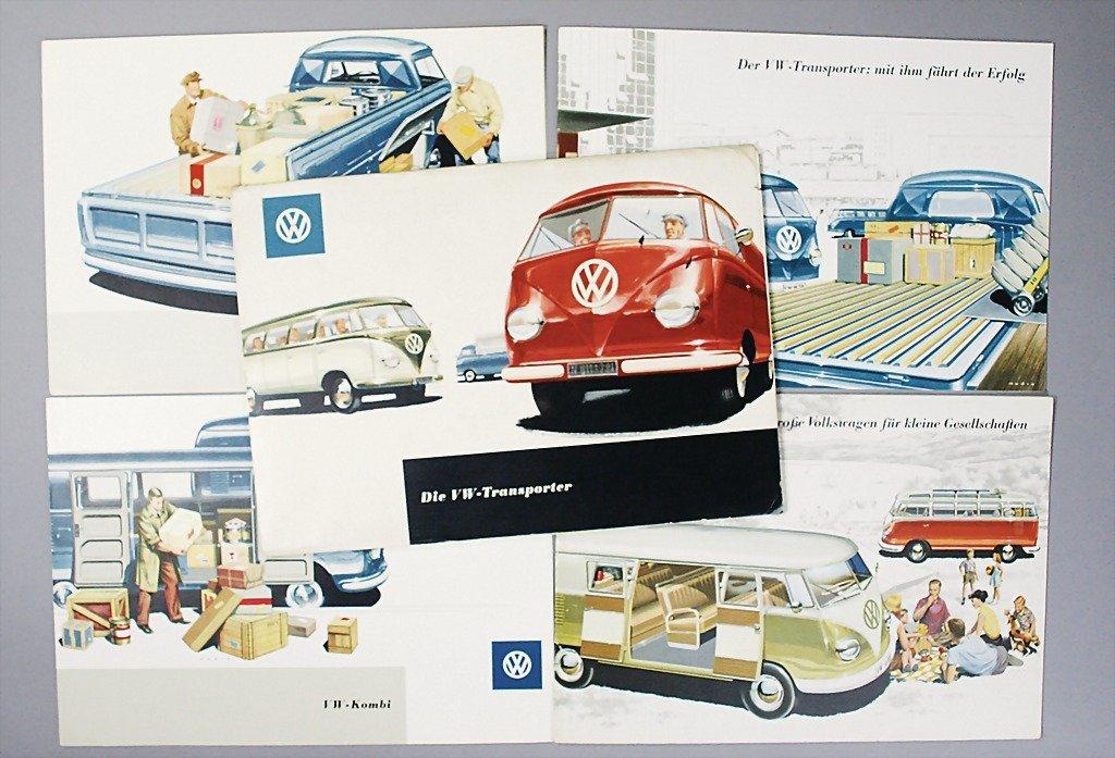 "1410: VW mixed lot of 5 pieces, 1x portfolio, ""Die VW T"