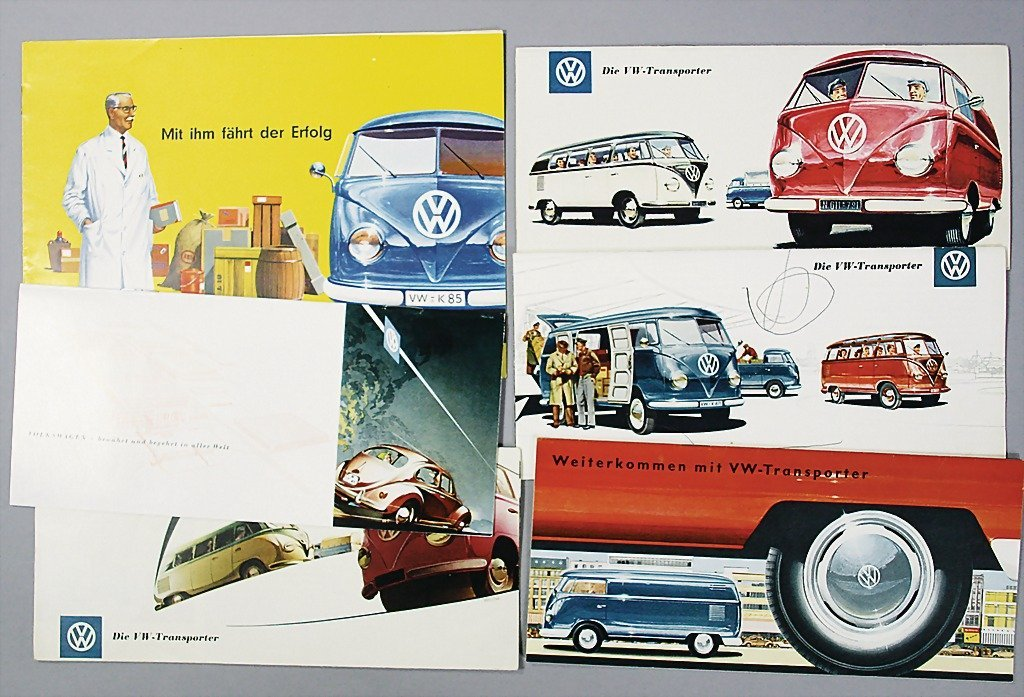 1411: VW mixed lot of 6 pieces, 4x VW-transporter model