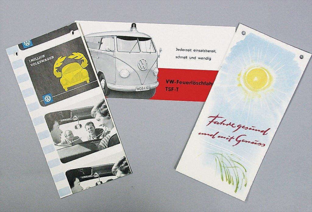 1413: VW mixed lot of 3 pieces, 1x folder, VW-fire engi