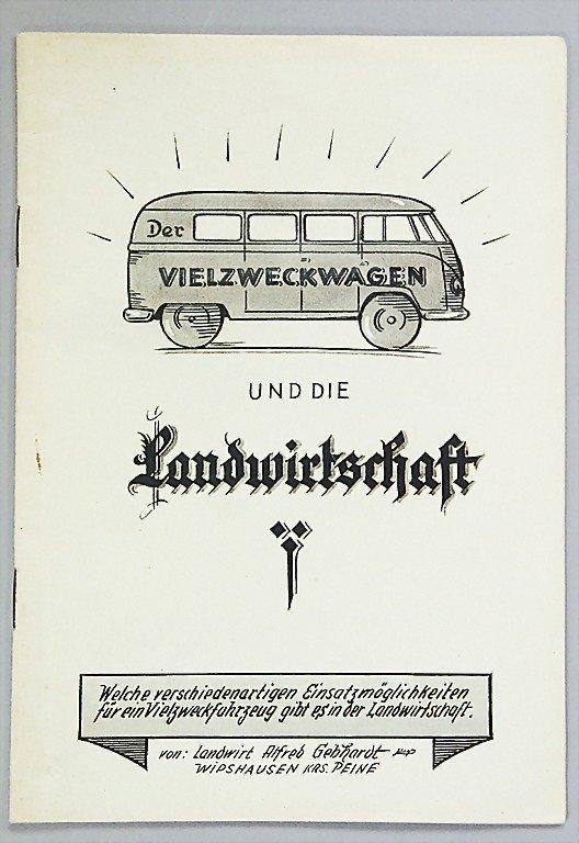 """1415: VOLKSWAGEN/ ALFRED GEBHARDT brochure, """"Der Vielzw"""