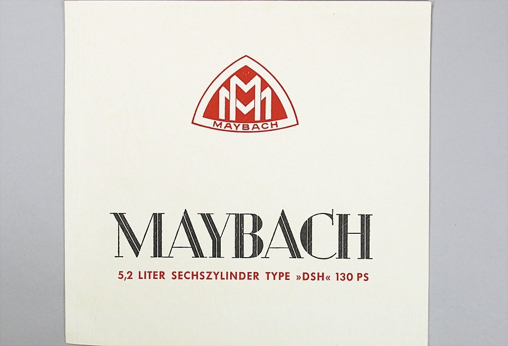 1420: MAYBACH D 1935, sales catalog, type DSH 130 PS, 1
