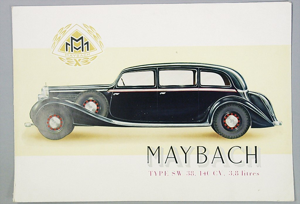 1421: MAYBACH 1936, brochure, SW 38 saloon, 4 pages, co